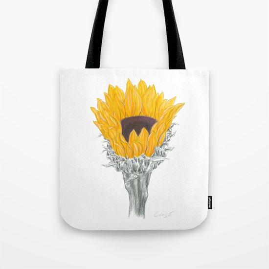Sunflower 01 Botanical Flower Tote Bag