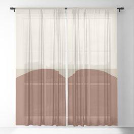 Abstract Geometric 01C Sheer Curtain