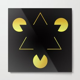 Golden Star illusion Metal Print