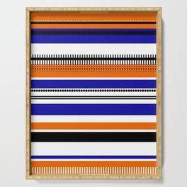 SSLICEE - Stripe, Lines, Orange, Fun, Summer, Clean Serving Tray
