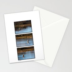 Gone Fishing Triptych White Stationery Cards