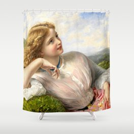 """Sophie Gengembre Anderson """"The Song of the Lark"""" Shower Curtain"""