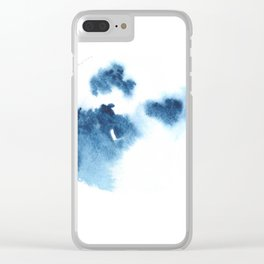 Blue Blob May 3 Clear iPhone Case