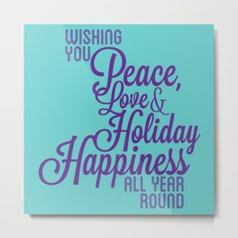 Year Round Holiday Happiness Metal Print