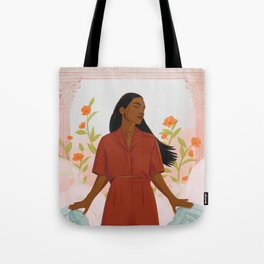 TIME'S UP by Louisa Cannell Tote Bag
