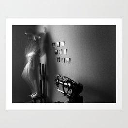 The leaning memory Art Print