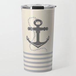 AFE Gray Anchor and Chain Travel Mug