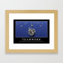 Teamwork: Inspirational Quote and Motivational Poster Framed Art Print