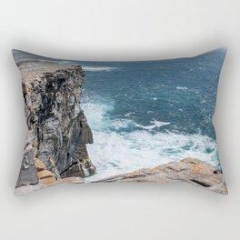 Cliffs off Dún Aonghasa Rectangular Pillow