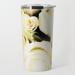 White roses Travel Mug