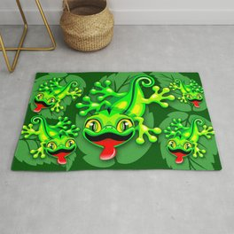 Gecko Lizard Baby Cartoon Rug