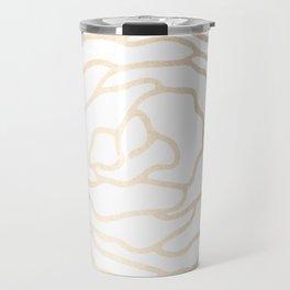 Flower in White Gold Sands Travel Mug