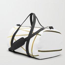 Gold Metallic Nodes Duffle Bag