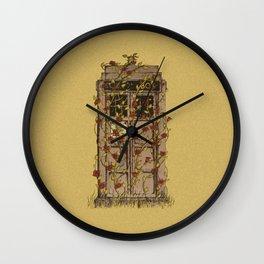 Tardis roses Wall Clock