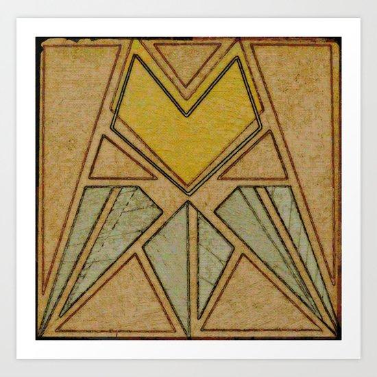 Arts & Crafts style tulip Art Print