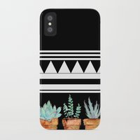 craftberrybush iPhone & iPod Cases featuring watercolor succulent  by craftberrybush