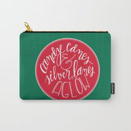 Candy Canes and Silver Lanes Carry-All Pouch