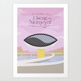 Curitiba - Museo Oscar Niemeyer Art Print