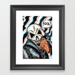 skull foolery Framed Art Print