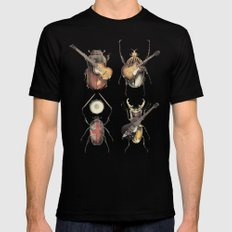 Meet the Beetles Black Mens Fitted Tee LARGE