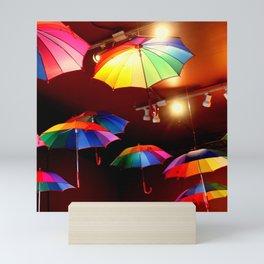 The Rainbow Party Lights Mini Art Print