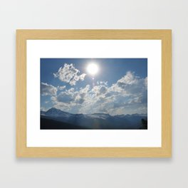 Shine Down Framed Art Print