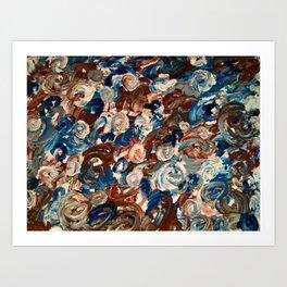 Blue Blood Mud Art Print