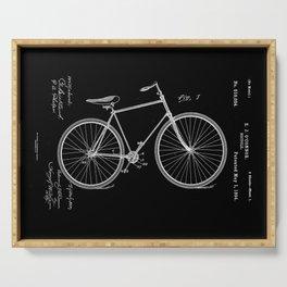 Vintage Bicycle Patent Black Serving Tray