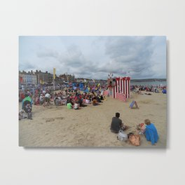 Punch & Judy Show on Weymouth Beach Metal Print