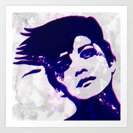 the rebel girl Art Print