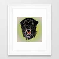 panther Framed Art Prints featuring Panther by Tish