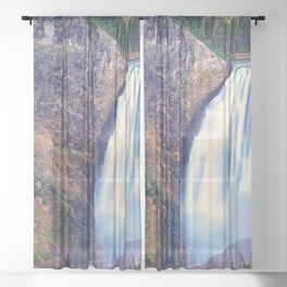 Lower Falls Yellowstone National Park United States Ultra HD Sheer Curtain