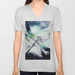 space dragonfly Unisex V-Neck