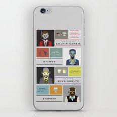 Django Unchained Character Poster iPhone & iPod Skin