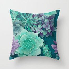 Succulent Love I Throw Pillow