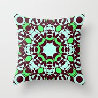 psycho Throw Pillows featuring Psycho by exit2wonderland
