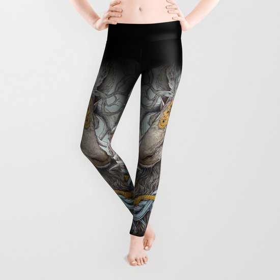 In Memory, as a print Leggings