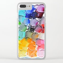 Tinted Polka Daubs Clear iPhone Case