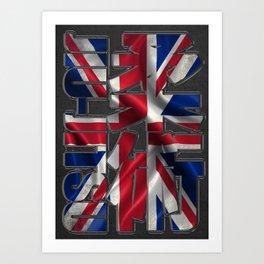 Britain Jiu Jitsu - BJJ - Ju Jutsu, England Art Print