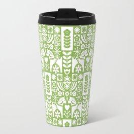 Swedish Folk Art - Greenery Travel Mug