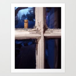 Peeping Cigarette Art Print