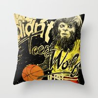teen wolf Throw Pillows featuring Teen Wolf by Liam Brazier