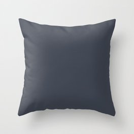 Sherwin Williams Trending Colors of 2019 Charcoal Blue (Dark Blue) SW 2739 Throw Pillow