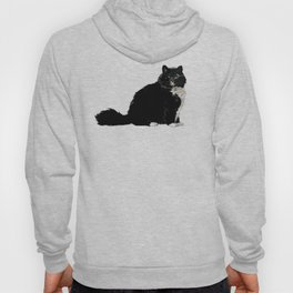 Black and White Cat Hoody