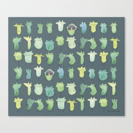 Cuddle frogs Canvas Print