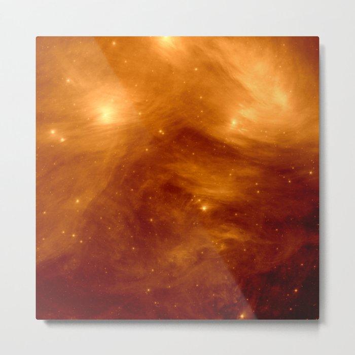 Copper Galaxy Nebula : The Seven Sister Pleiades Metal Print