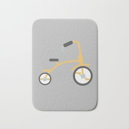Gray Adventure Series Yellow Tricycle Bath Mat