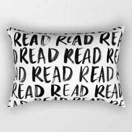 Read, Read, Read (White) Rectangular Pillow