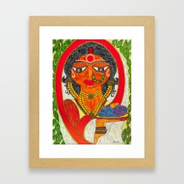 East Indian Bengali Bride Framed Art Print