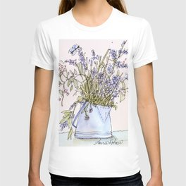 Wildflowers Botanical Flowers in Pitcher T-shirt